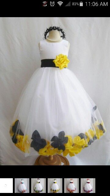 Love it yellow and black flower girl dress wedding ideas 2 love it yellow and black flower girl dress mightylinksfo