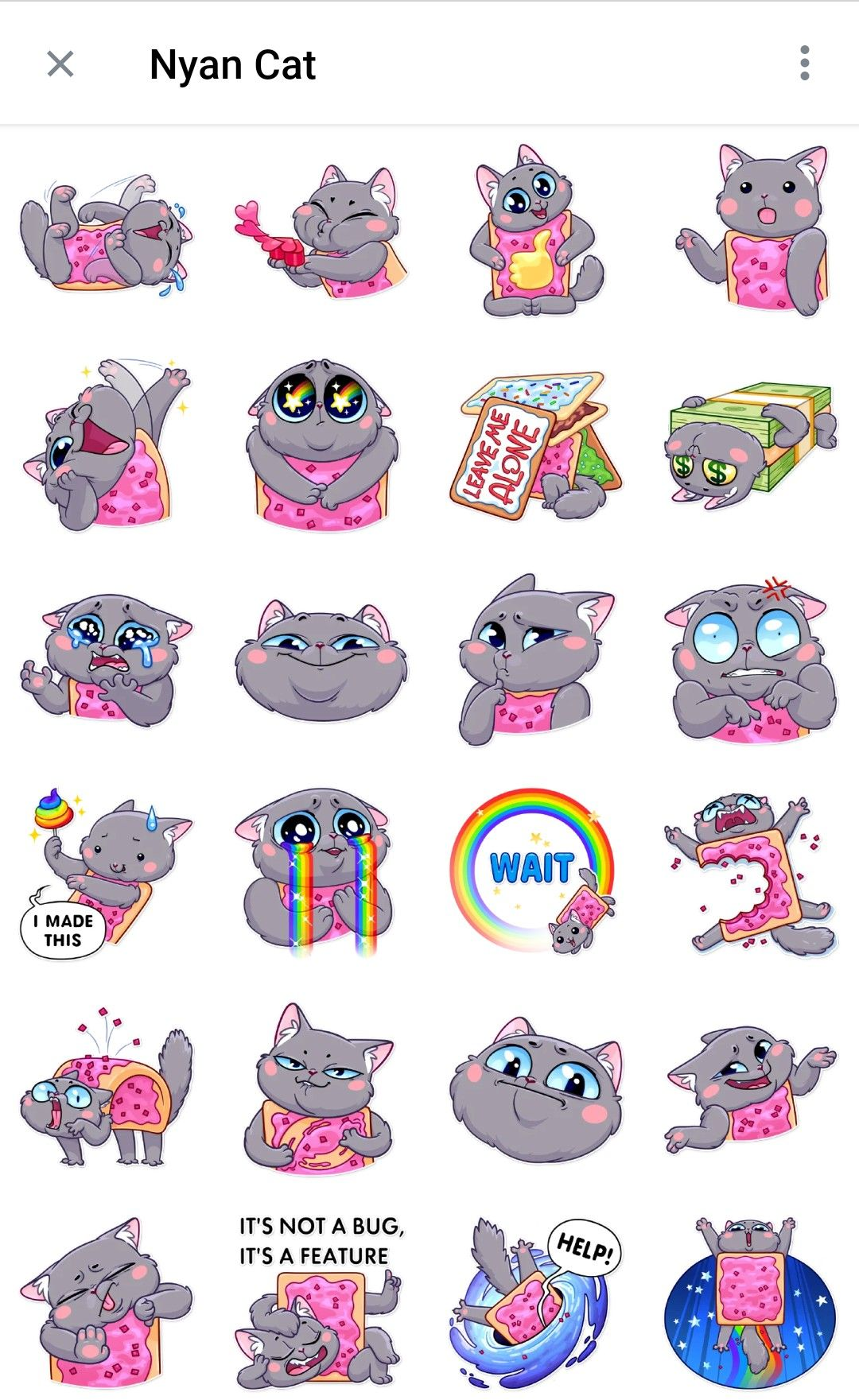 Nyan Cat Telegram sticker packs Nyan cat, Cute stickers