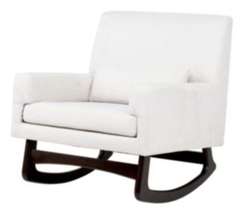sleepytime rocker chair  mircosuede also in brown and grey    legs also in light ash  $700