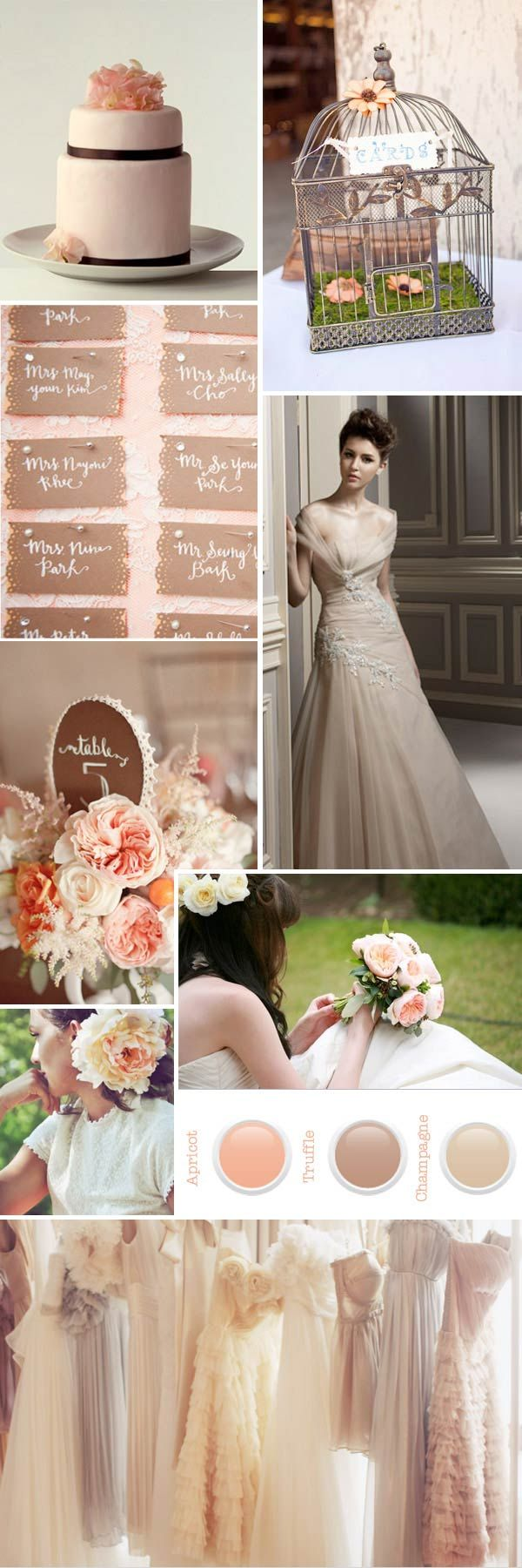 Wedding decoration ideas peach  Peach and Cream Wedding Colors  Wedding Ideas  Pinterest  Cream