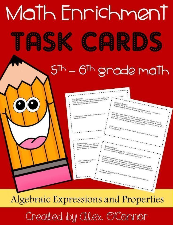 Math Enrichment Problems (Algebraic Expressions and