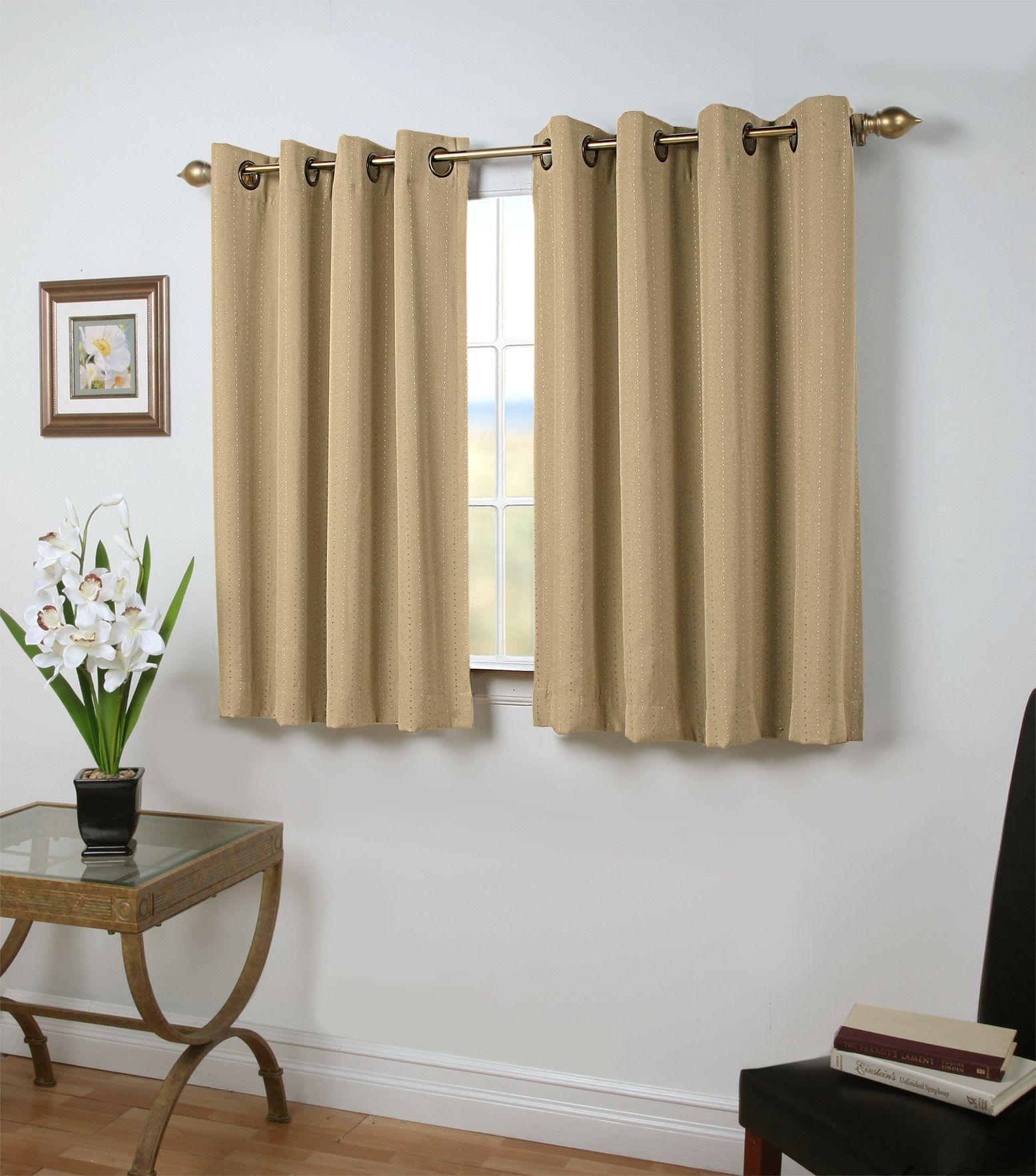 Grand Pointe Short Single Curtain Panel Blackout Panels Panel
