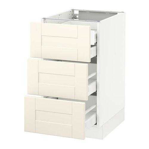 sektion base cabinet w 3 fronts  u0026 4 drawers white maximera grimsl  v off white sektion base cabinet w 3 fronts  u0026 4 drawers white maximera      rh   pinterest com