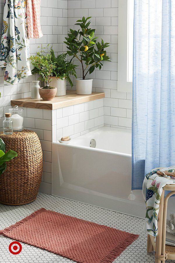 Photo of Revive your bathroom in a household with new patterns, fresh textures and faux green.