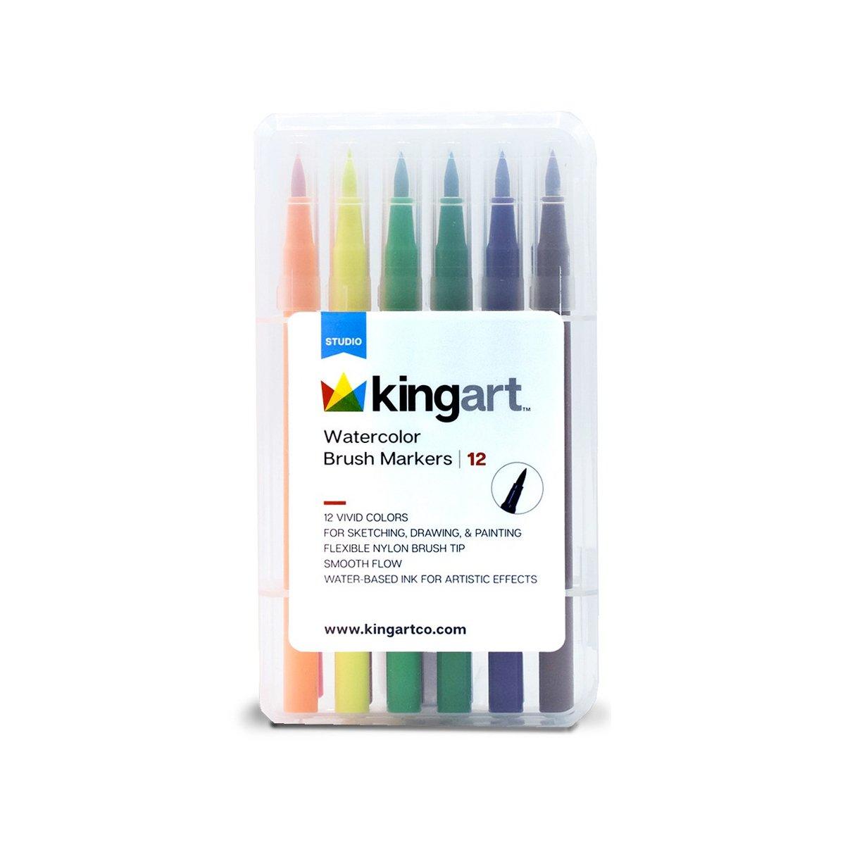 Watercolor Brush Tip Markers Set Of 12 Colors Watercolor