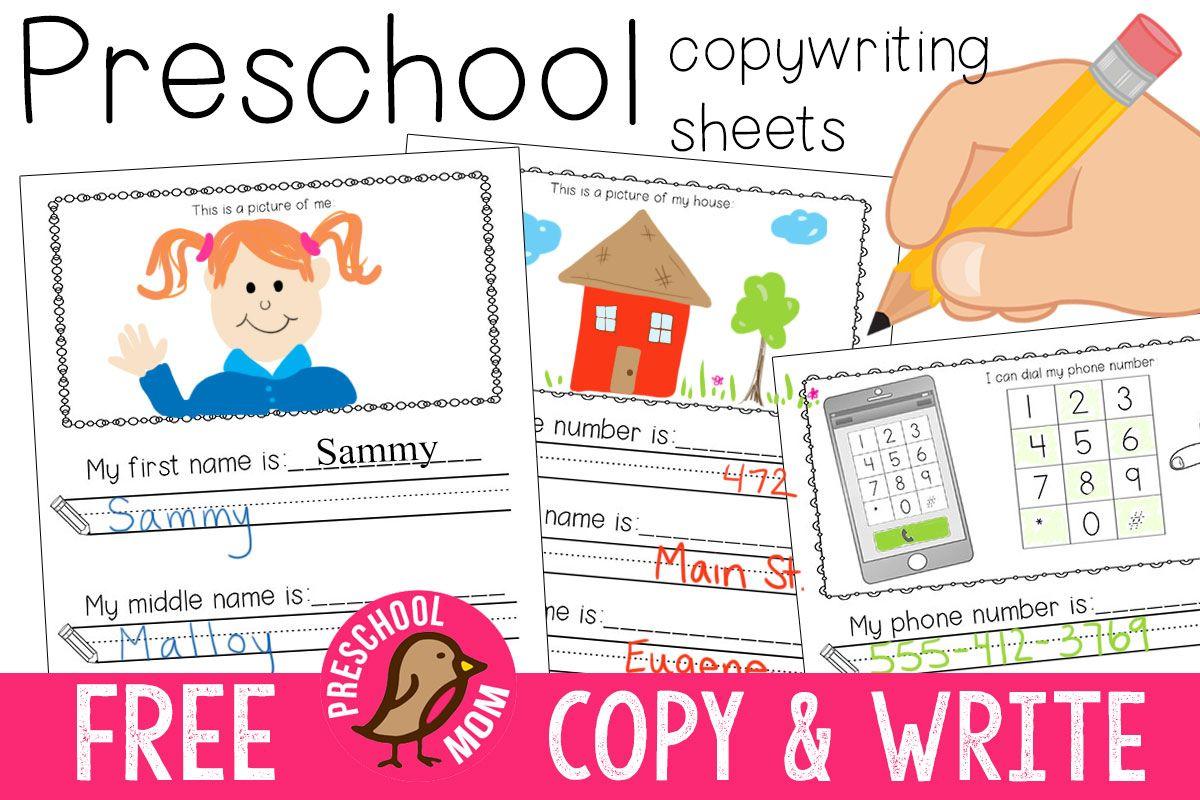 Free Preschool Writing Prompts