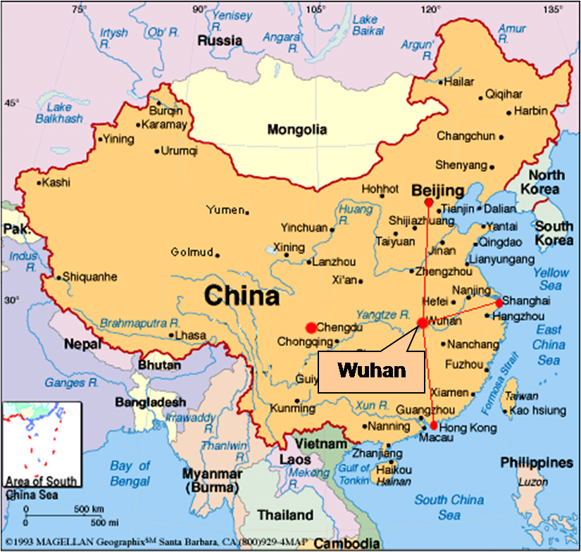 East China free map, free blank map, free outline map ... |Xian East Asia Map