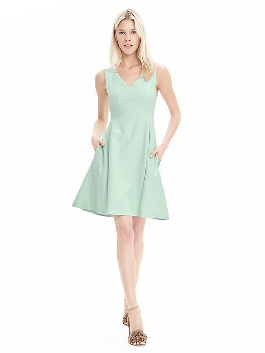 V Neck Fit And Flare Dress Banana Republic Fit And Flare Dress Flare Dress Fit And Flare