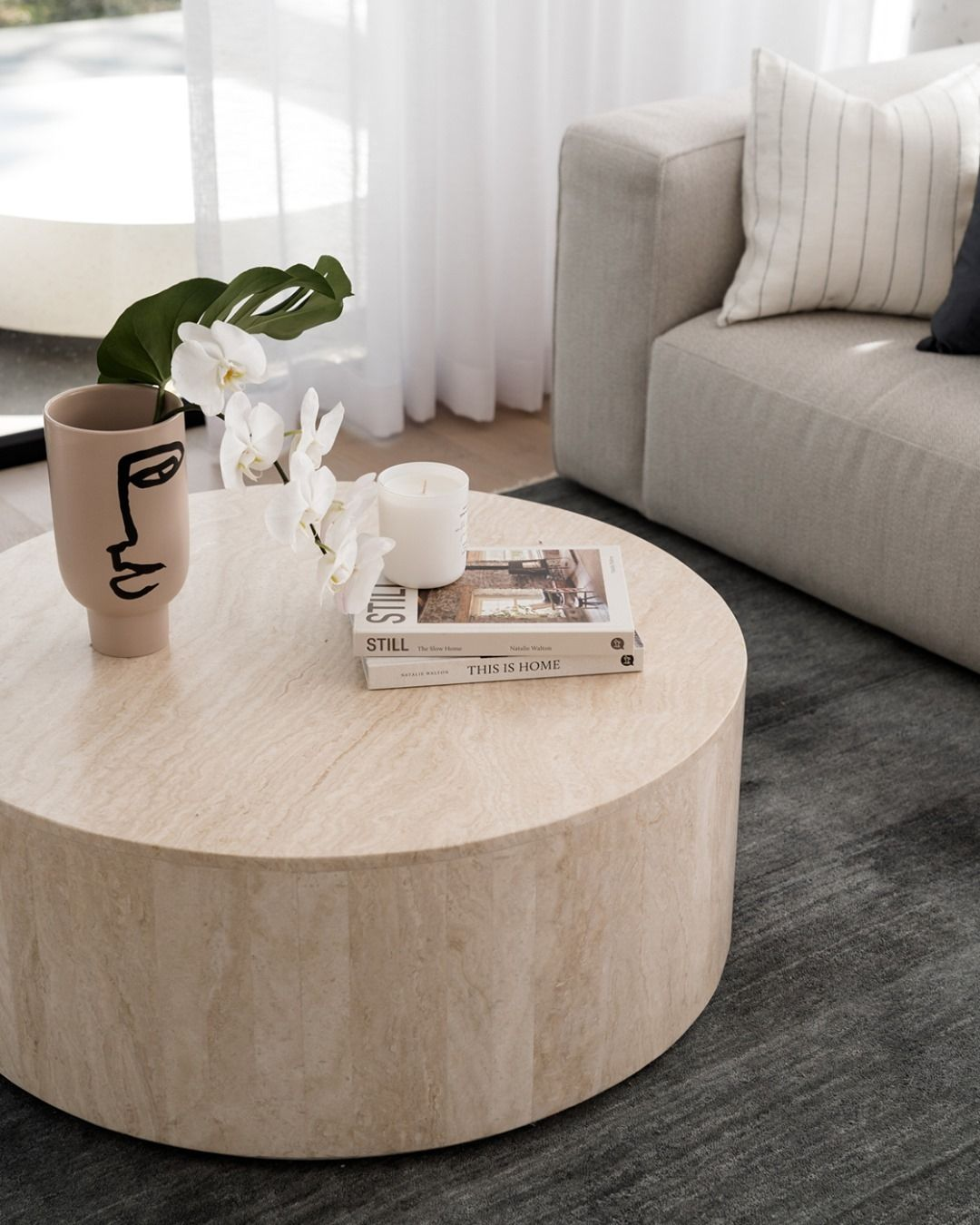 Globewest On Instagram Repost Bonemade The Iteration Of A Classic The Elle Block Round Cof Coffee Table Living Room Coffee Table Travertine Coffee Table [ 1350 x 1080 Pixel ]