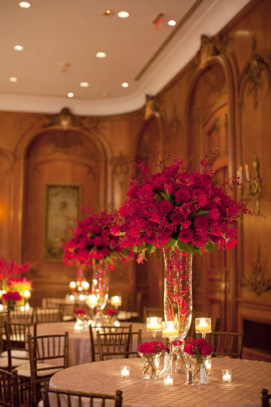 La Colombe D Or Wedding By Belle Of The Ball Nancy Aidee Photography Flower Arrangements Red Centerpieces Wedding Centerpieces