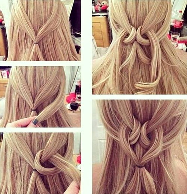 Easy Twisted Heart Hairstyle Hair Styles Long Hair Styles Heart Hair