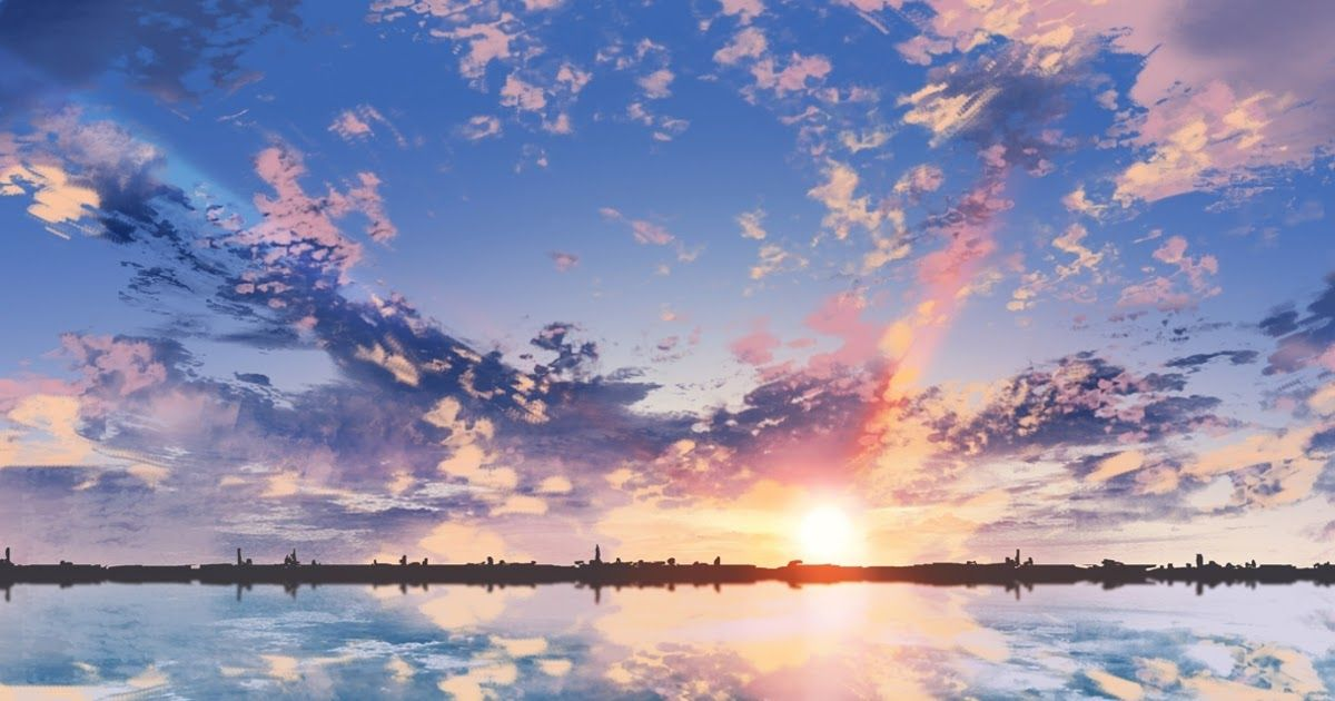 30 Scenery Anime Background Wallpaper Hd Anime Scenic Clouds Sunset Reflection Dual Monit Anime Scenery Wallpaper Anime Backgrounds Wallpapers Anime Scenery