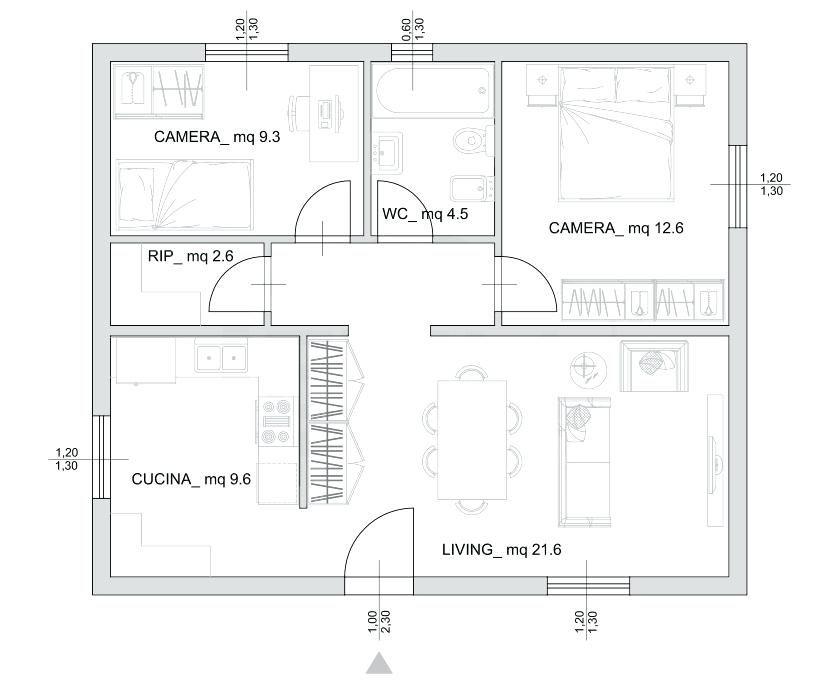 Progetti Di Case Su Un Piano Progetti Case A Un Piano Piantine Di Case Planimetrie Di Case Planimetrie Dell Appartamento