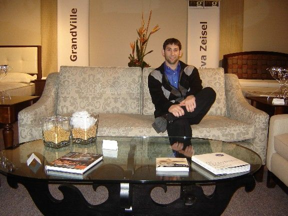 Adam Zeisel with Eva Zeisel Coffee Table Designs in use Pinterest