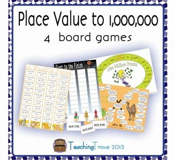 Place Value Games to 1 000 000 | 4th grade | Place value