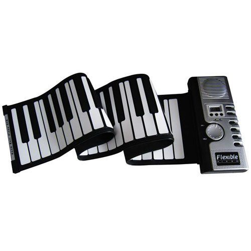 """Craszy sale Children's gift - 61 keys roll up musical piano by Flashing LED Board. $55.99. Features:Compact and light-weight, ultra-portableFully-adjustableQuiet to loud volume controlOffers great quality 61 Thickened Keys Full Size Keyboard [5 Octaves + 1 Key] . Now, all the keys are even """"thickened"""" for better durability and sense of playing!!!128 Tone Repertoire 100 Background Rhythms 40 Demonstration Songs -- for study and appreciation of classic musicRecord..."""