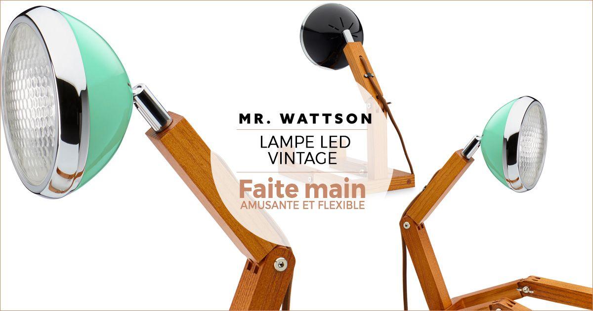 lampe mr wattson modulable poser partout dans la position que vous souhaitez une lampe l. Black Bedroom Furniture Sets. Home Design Ideas