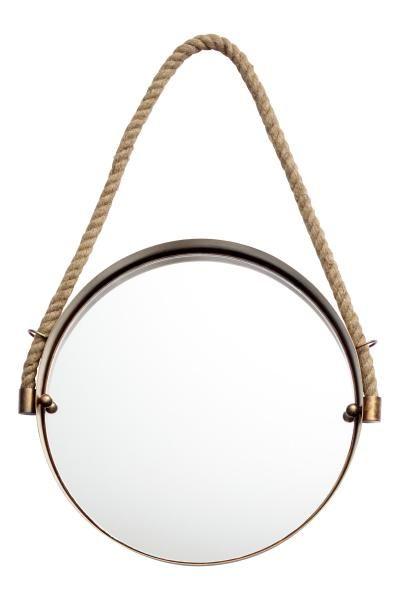 Miroir rond miroir rond avec cadre en m tal vieilli mod le avec cordon en jute pour la for Miroir rond sans cadre