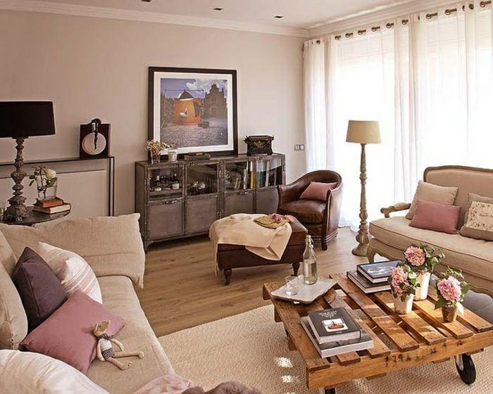 Plusieurs designs pour la table de salon en palette - Salon chaleureux et accueillant ...