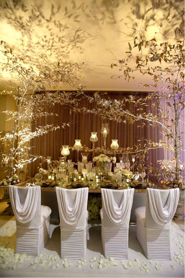 Chic Blog About Beautiful Tablescapes Wedding Table Wedding Chairs Wedding Decorations