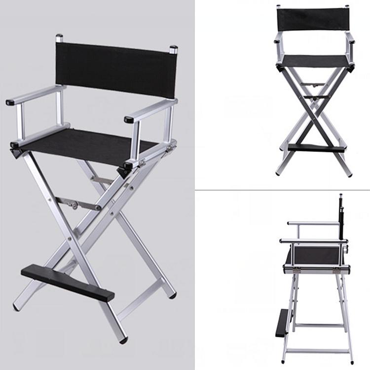 High Aluminum Frame Makeup Artist Director Chair Foldable Outdoor Furniture Lightweight Portable Folding Director Makeup Cadeira De Aluminio Molduras Maquiador