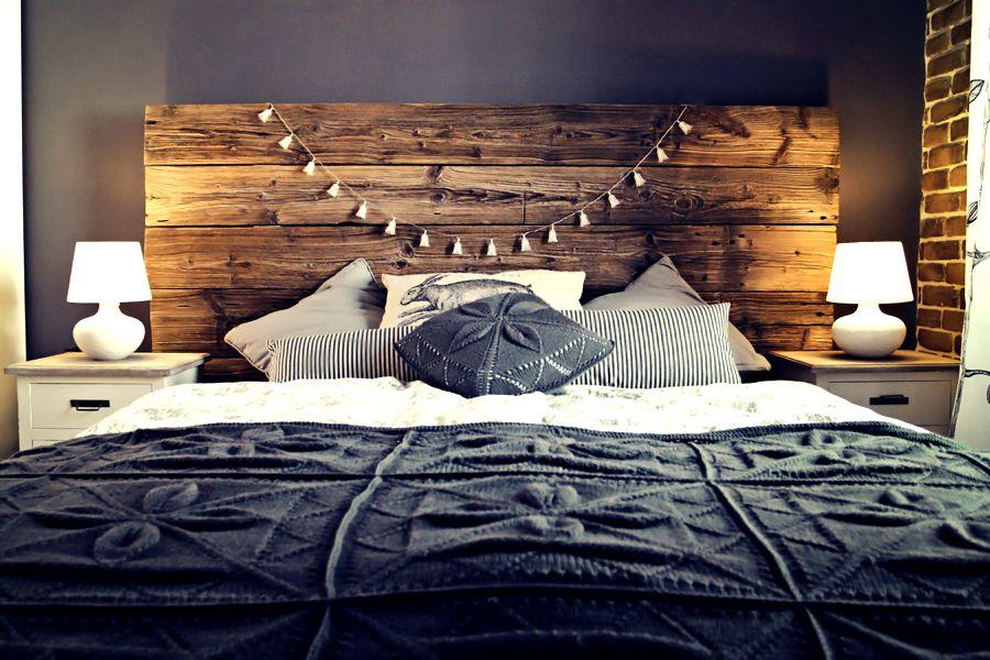 Diy Headboard Build From The 100 Years Old Barn Wood Bedroom