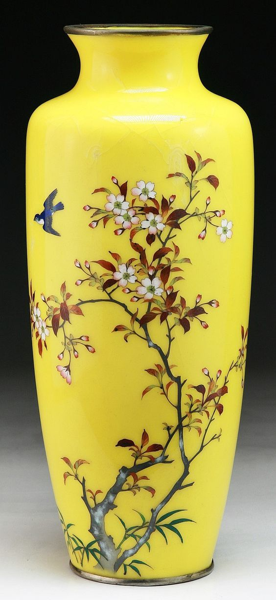 A Japanese Antique Silver Ando Cloisonne Vase Of 19th Century I