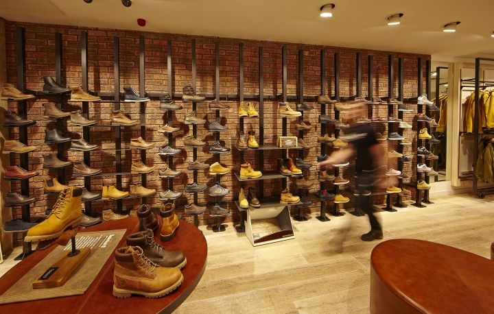 Timberland flagship store by green room glasgow uk for Green room retail