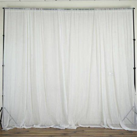 Sheer Voile Backdrop Party Drape Curtains 5ft X 10ft Wedding Ceremony Party Home Decoration Walmart Com Panel Curtains Curtains Sheer Curtain Panels