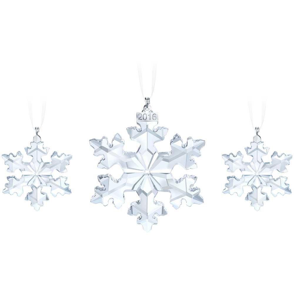 Swarovski Snowflake Ornament Set 5222332 | Snowflake ornaments ...