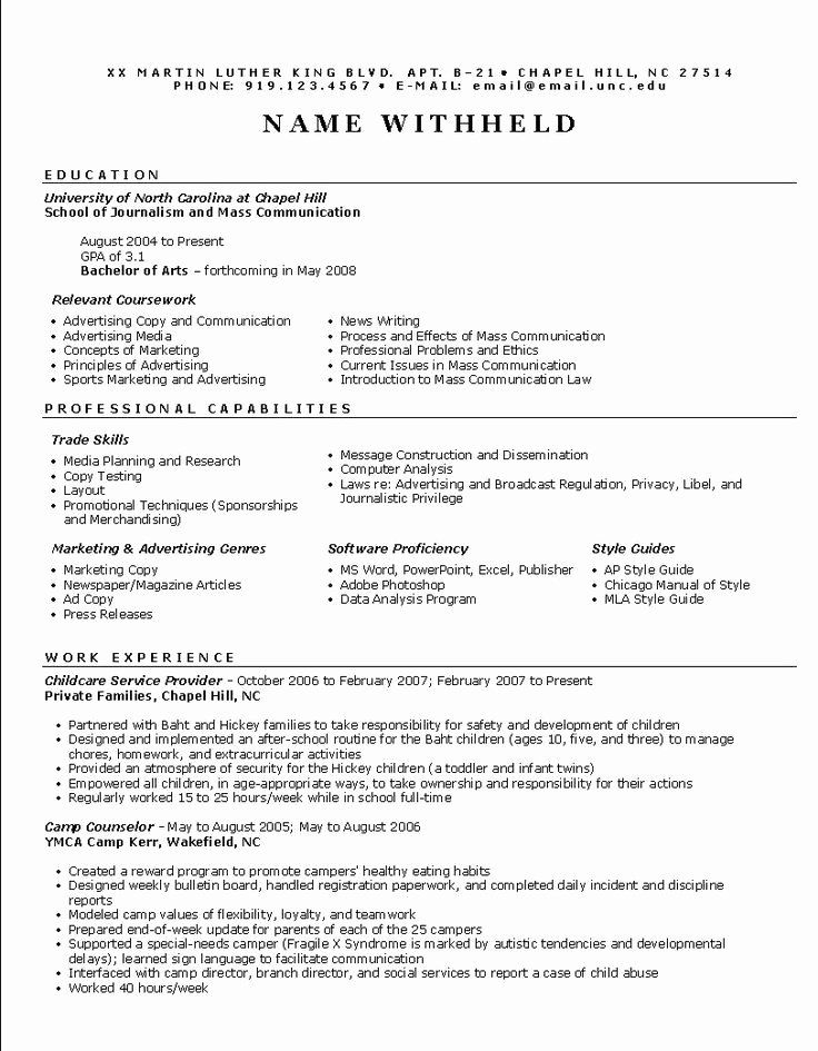 Free Functional Resume Template Unique 25 Great Ideas