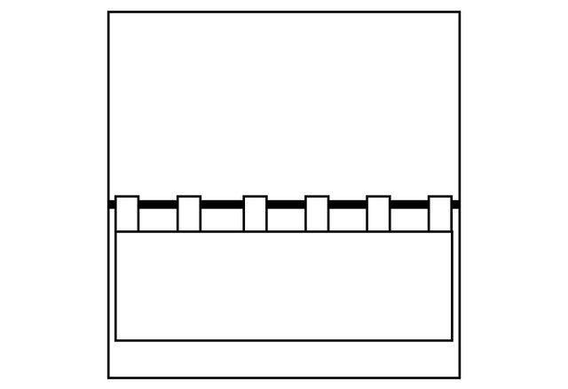 Scheibengardine »STARS allover«, , Stangendurchzug (1 Stück), mit Stangendurchzug, für die Küche