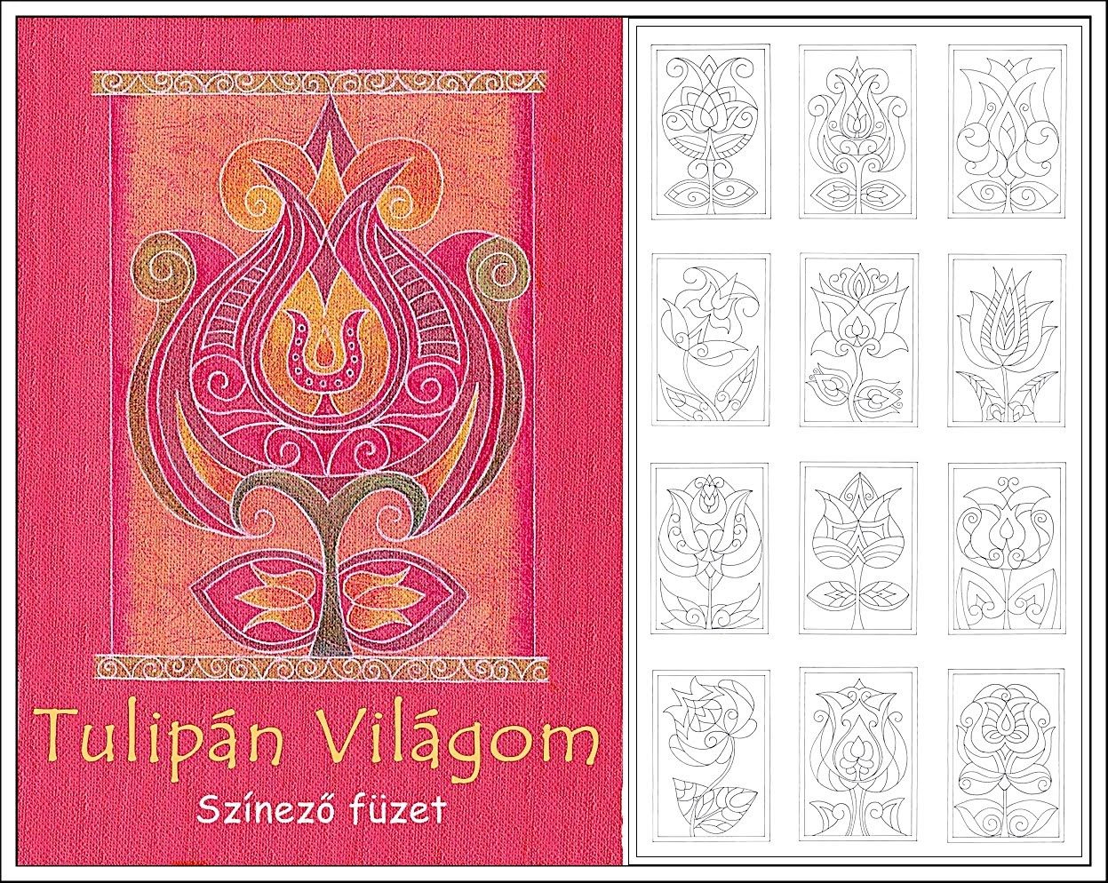 Hungarian tulip coloring pages i folk patterns pinterest