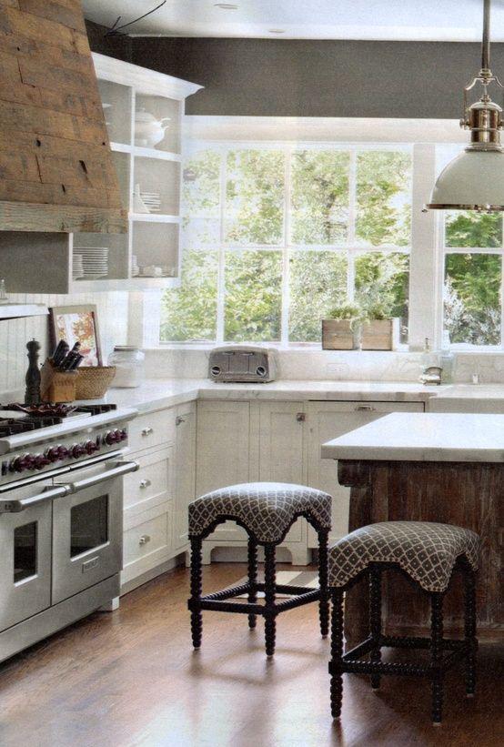 Reclaimed Wood Range Hood Cover Timeless Kitchen