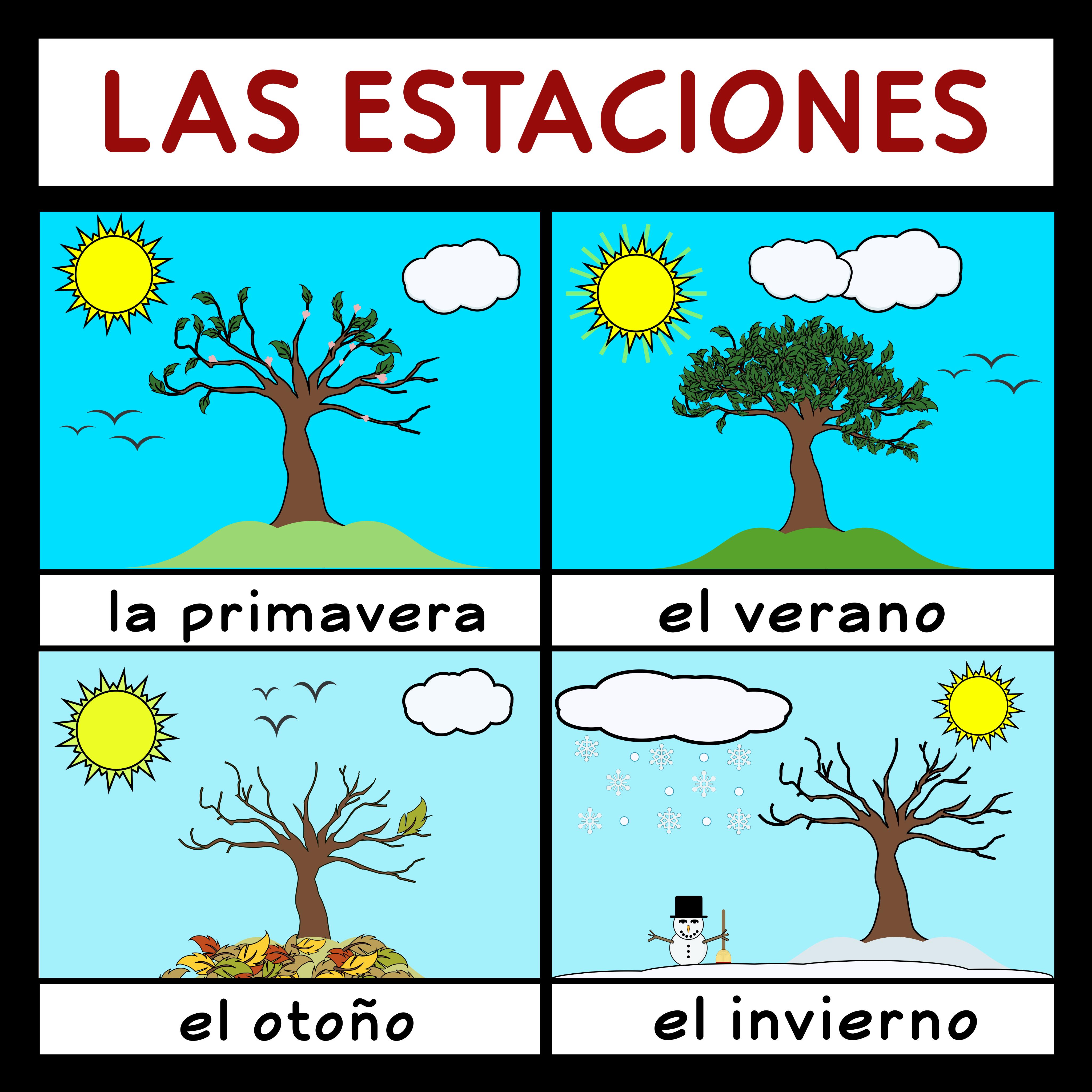 The Seasons In Spanish Las Estaciones En Espanol