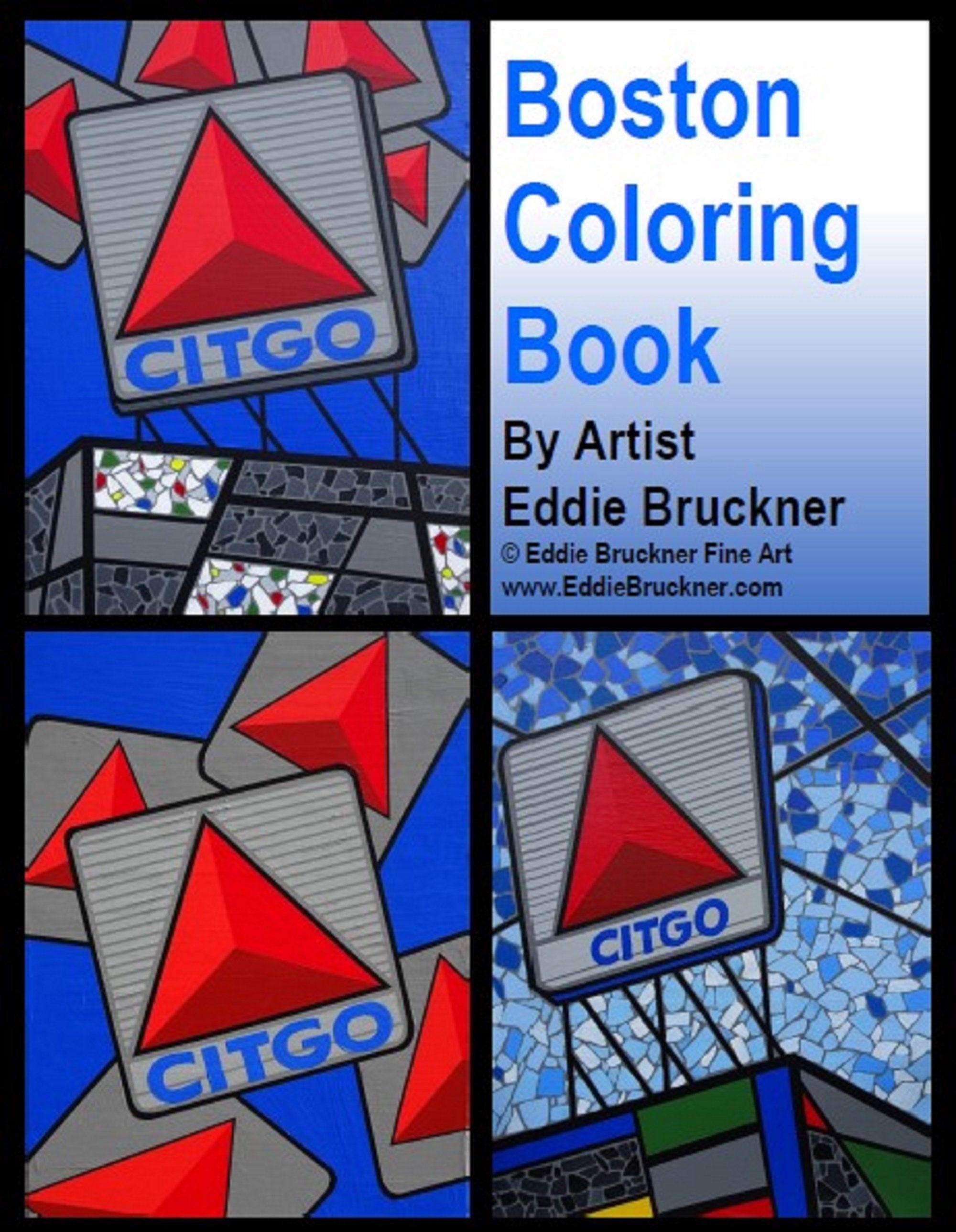 Pop Art Boston Coloring Book Printable Instant Download Of