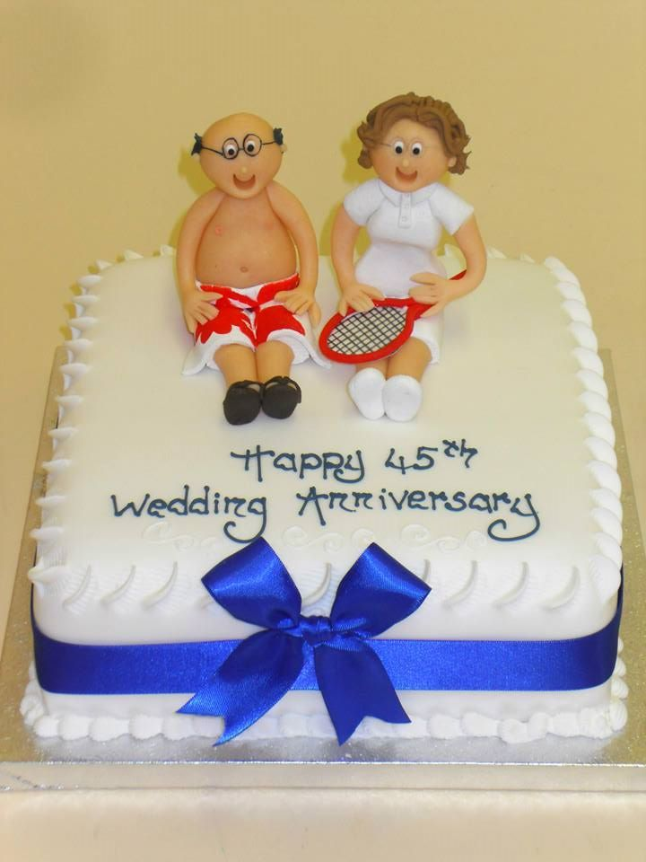45th wedding anniversary cake 45th wedding anniversary