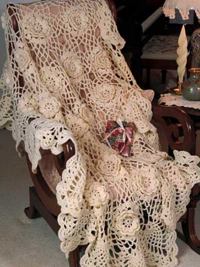 Crochet - Assorted - Pineapple Afghan II 0(a table cloth | Crochet ...