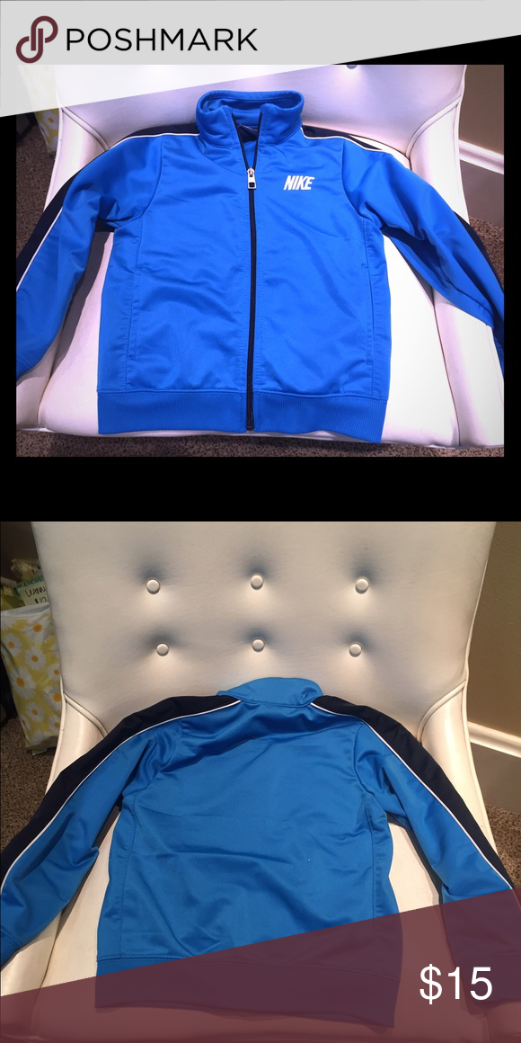 5 youth Nike blue jacket 5 Nike spring jacket. Great condition! Nike Jackets & Coats