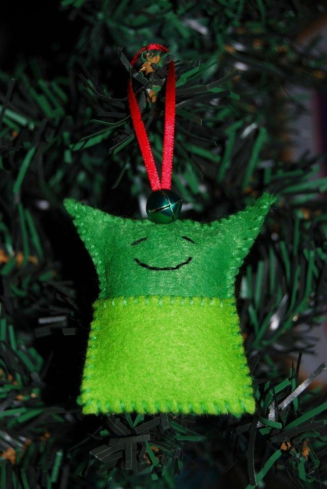 Hand Sewn Star Wars Yoda tree decoration - Made to Order Christmas - bulk halloween decorations