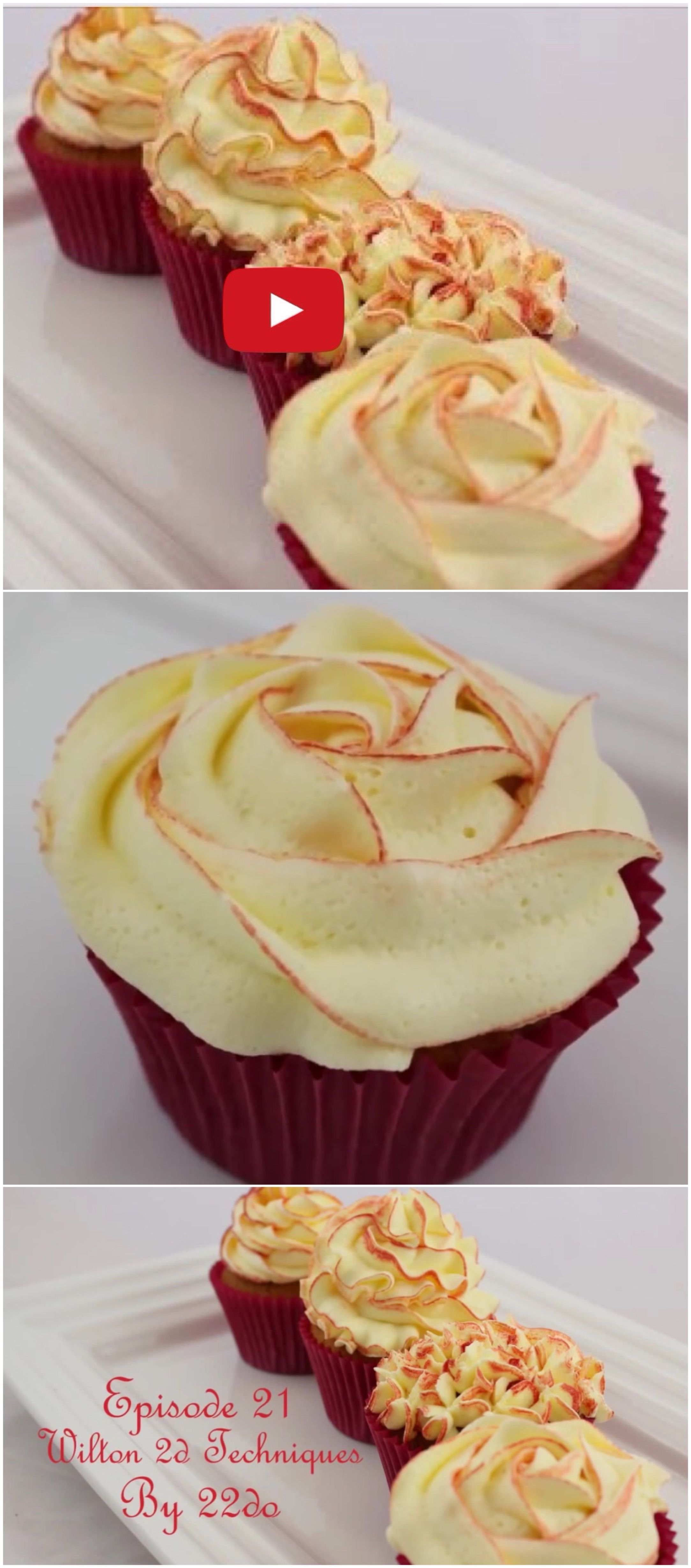 How to use a 2d Wilton Icing tip for 6 different icing finishes ...