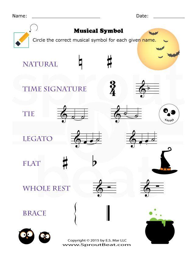 Music Worksheets – Musical Symbol | Música | Pinterest