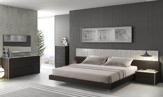 Superbe Largest Bedroom Sets Collection: Ju0026M Is Proud To Introduce Our New Premium  Bedroom Collection. The Porto Light Grey Lacquer/Wenge 5 PC Premium Bedroom  Set ...