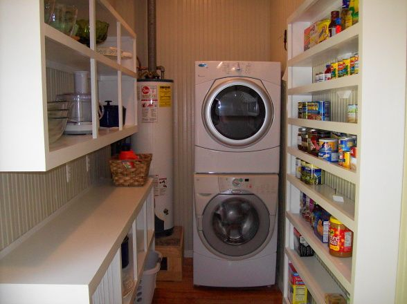 ... Pantry Into A Combo Laundry