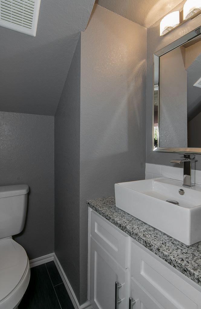 Modern Bathroom Make Over Half Bath Bathroom Under The