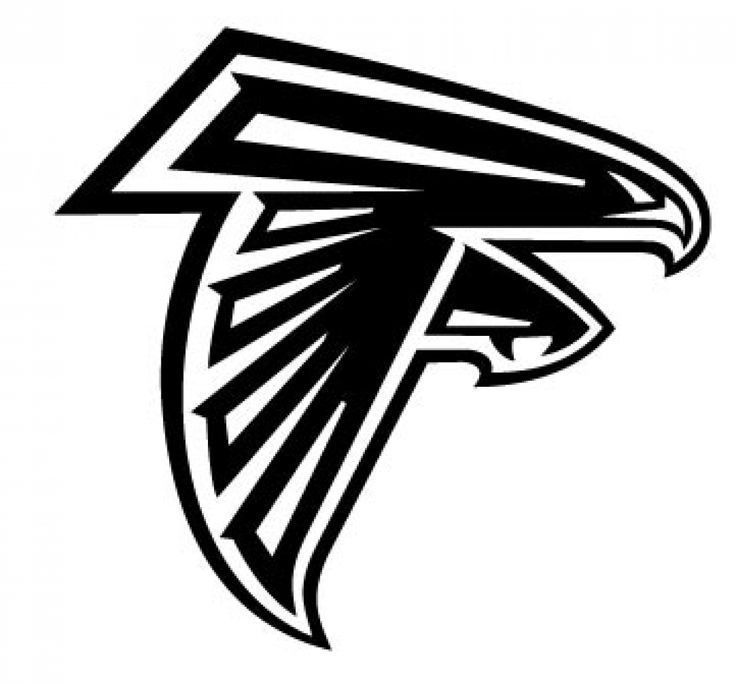 atlanta falcon logo nfl decal vinyl car decal 100 weather proof 6 rh pinterest com atlanta falcons vector logo download atlanta falcons logo vector free