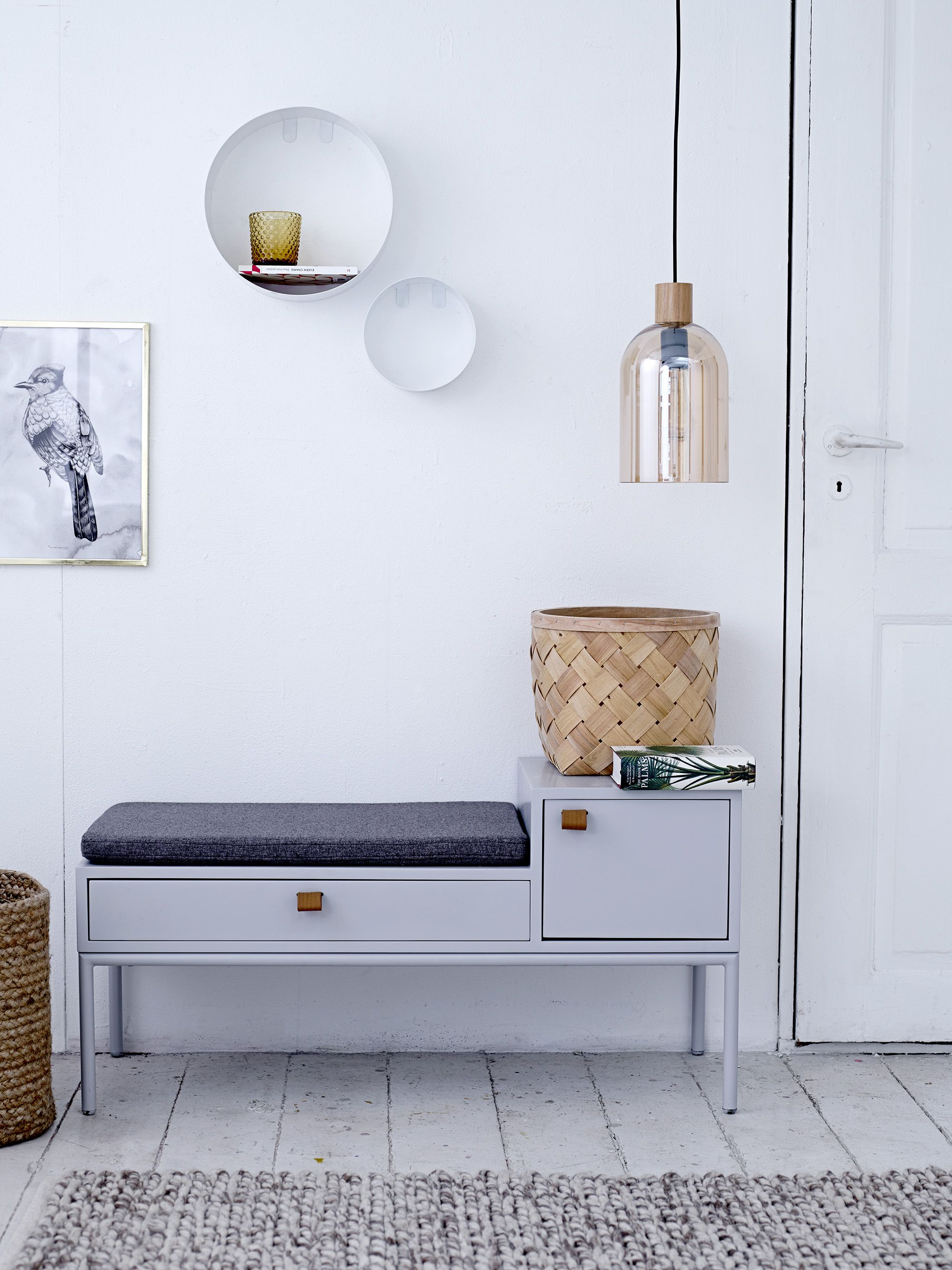 welcome home phone bench with built in storage designed by
