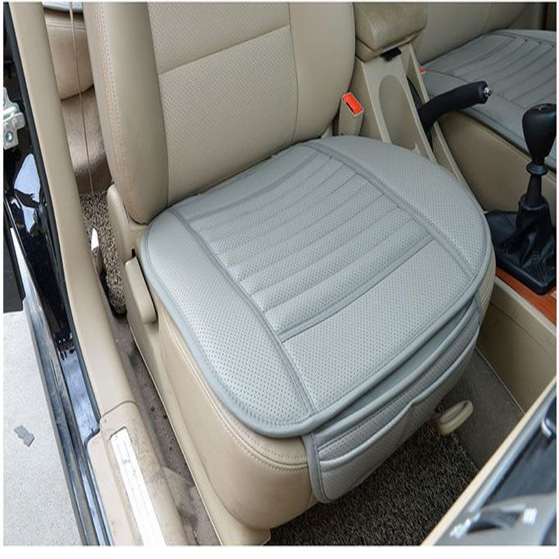 Car Drivers Seat Cushion Bamboo Charcoal Front Cover Pad Leather Wear Resisting Pads