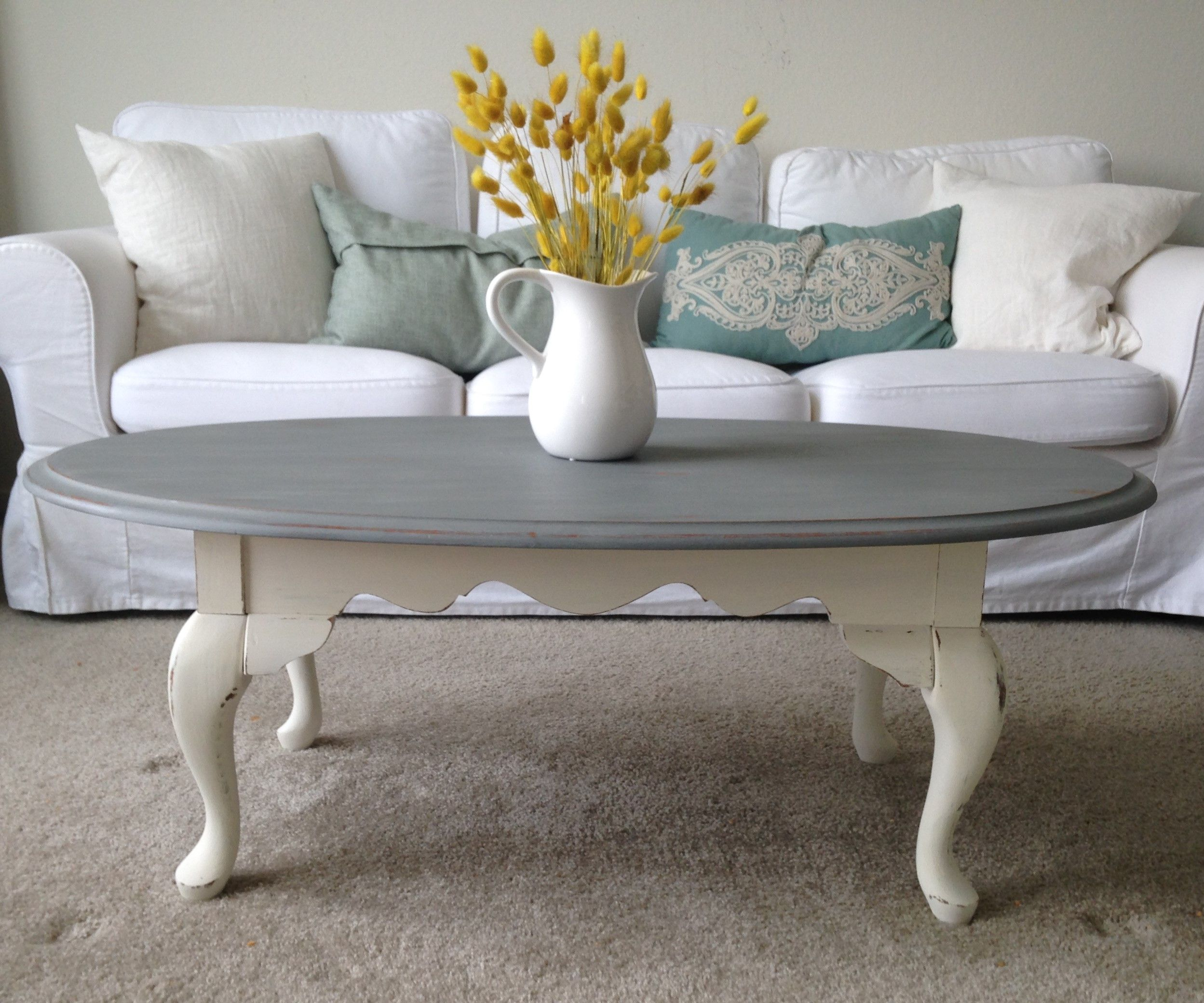 A Quick Coffee Table Makeover Coffee Table Makeover Shabby Chic