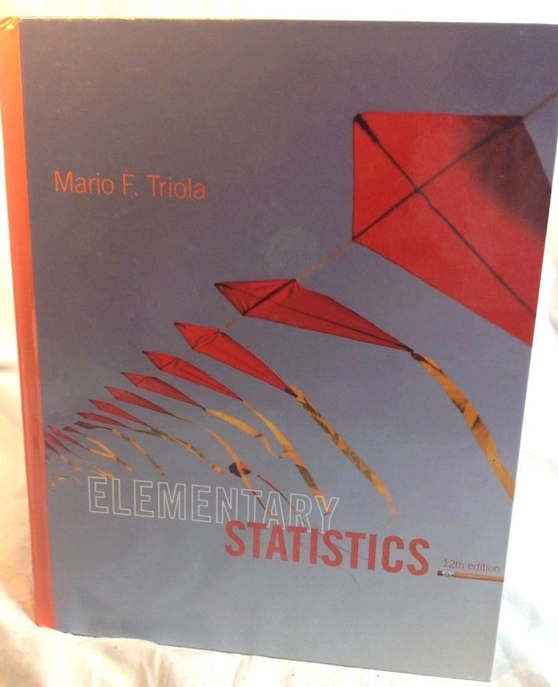 Elementary Statistics HARDCOVER by Mario F. Triola 12th edition + UNUSED CD  #Textbook